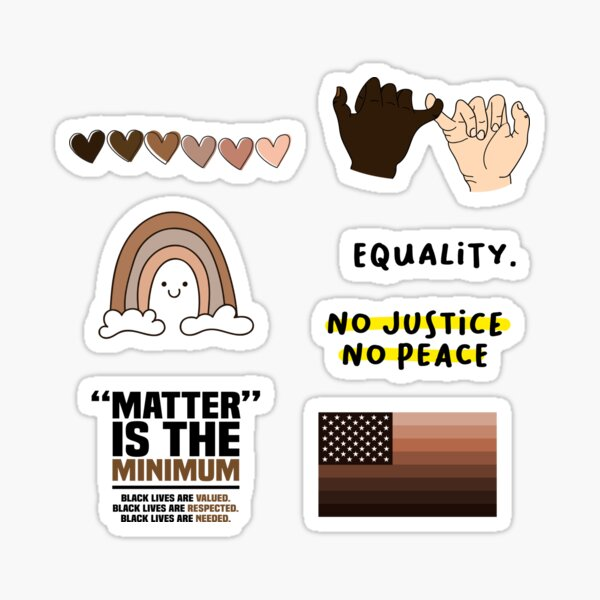 Black Owned Equality Stickers Pack Sticker
