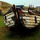Clachtoll Beach, Boat Wreck Highlands by Sue Fallon Photography