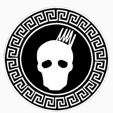 Greek Keys White Cranium Design by davidmorrison92