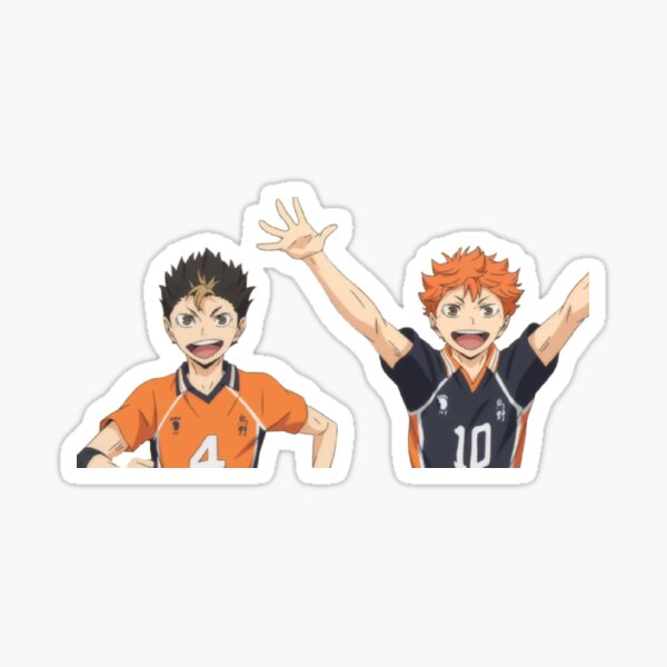 nishinoya and hinata Sticker
