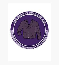 The Purple Shirt Photographic Print