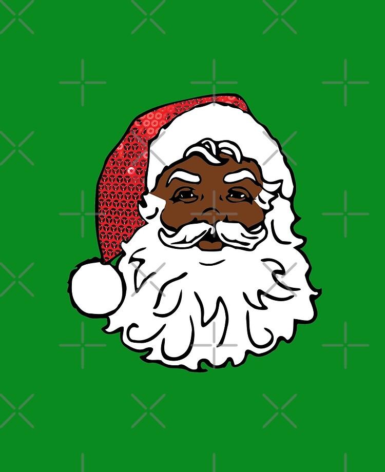 Black Santa Claus Ipad Case Skin By Gossiprag Redbubble