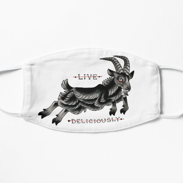 LIVE DELICIOUSLY Flat Mask