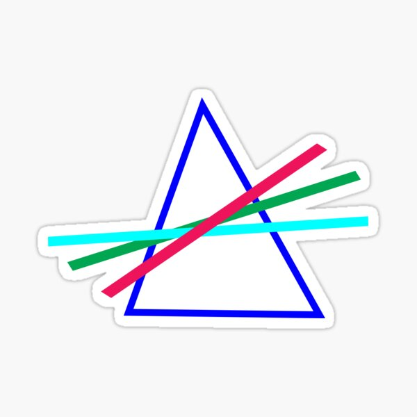 Retro Style Triangle design Sticker