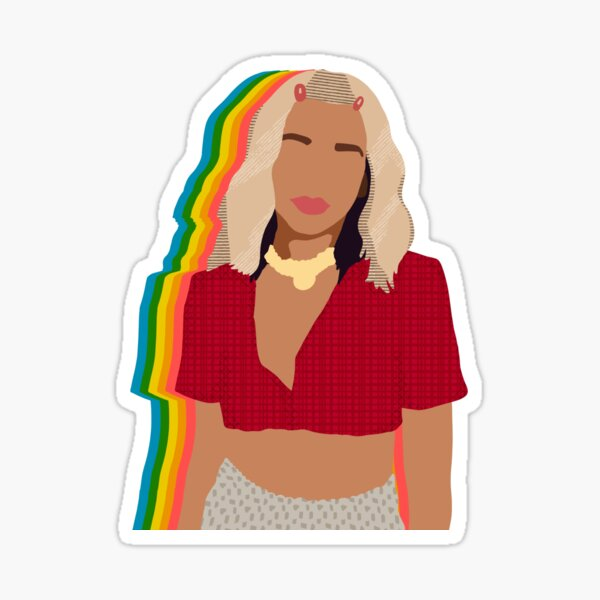 break my heart dua lipa - rainbow shadow Sticker