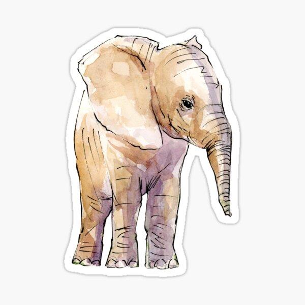 Elephant Sketch no.02  Sticker