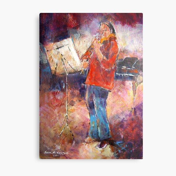 Violin Practice - Music Art Gallery Metal Print