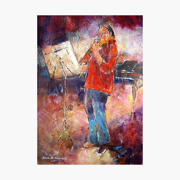 Violin Practice - Music Art Gallery Photographic Print