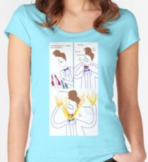 Three Bowties Women's Fitted Scoop T-Shirt