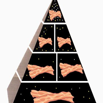 Bacon Food Pyramid by WizardsOnAHill