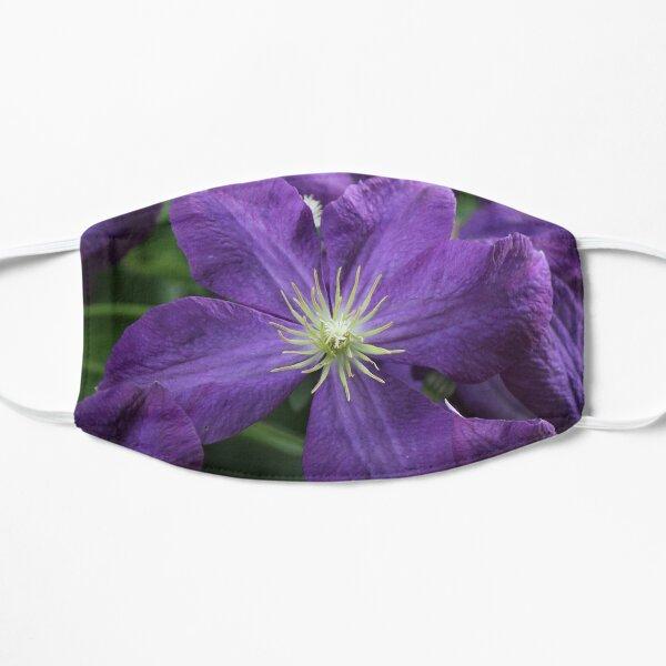 Purple clematis flower Mask