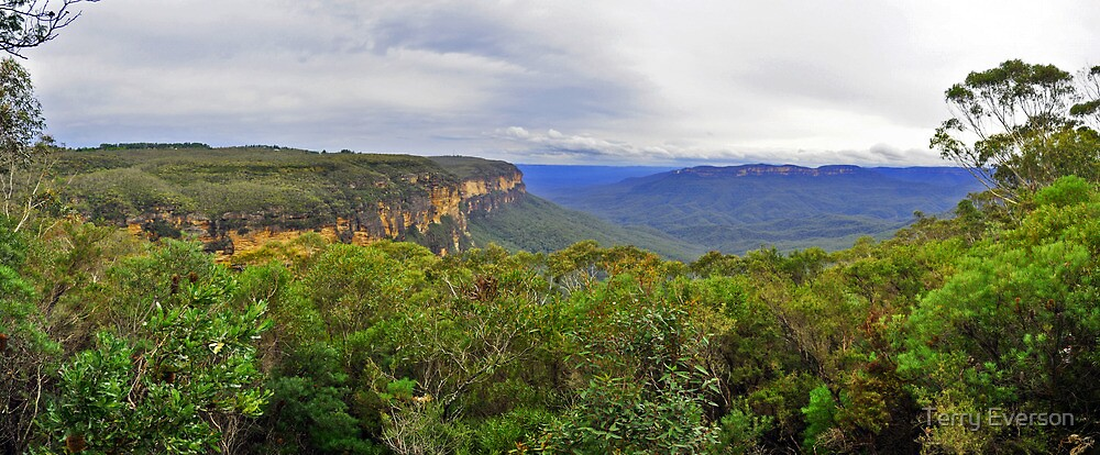 Jamison Valley Panorama by Terry Everson