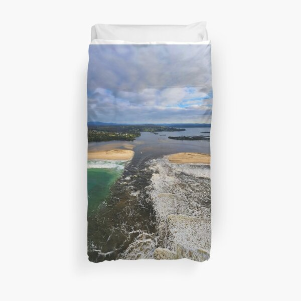 Mallacoota Mouth Opening July 2020 Duvet Cover
