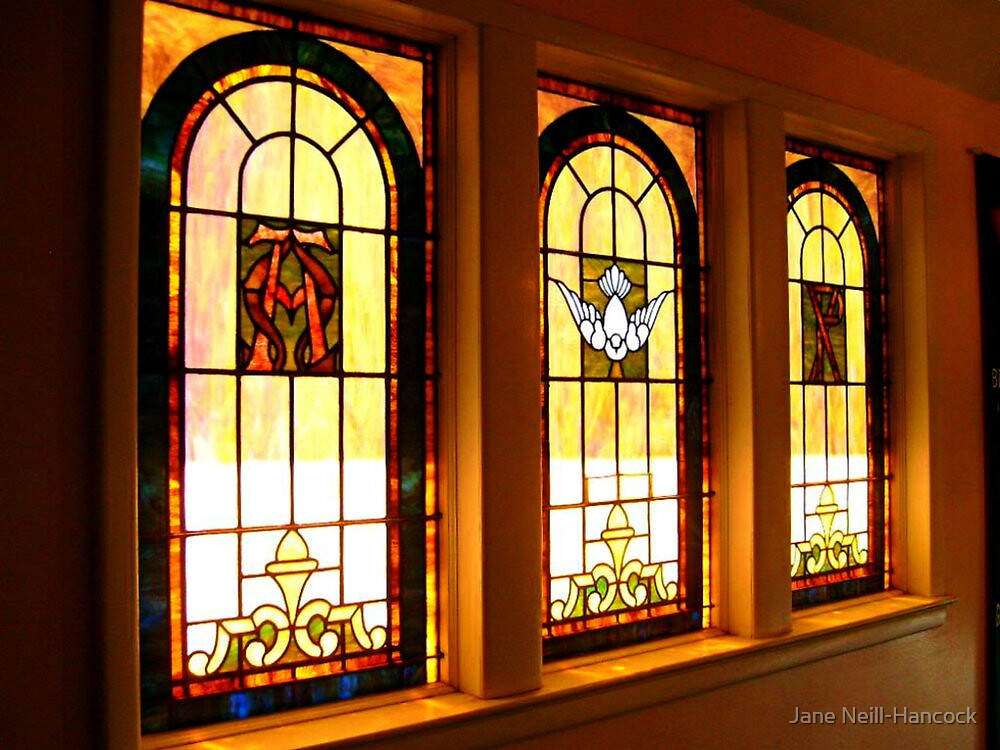Three Stained Glass Windows by Jane Neill-Hancock