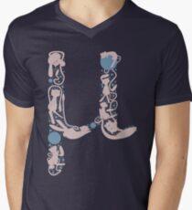 The Letter Mu Men's V-Neck T-Shirt