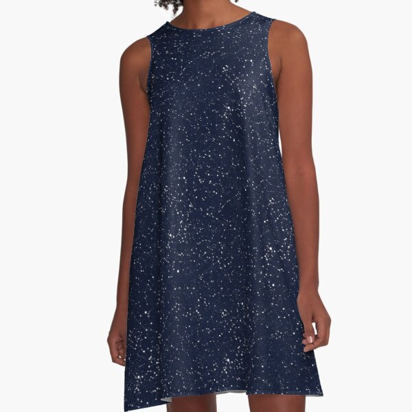 Starry Night Constellations A-Line Dress