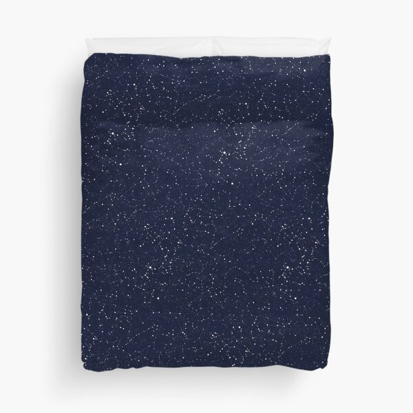 Starry Night Constellations Duvet Cover