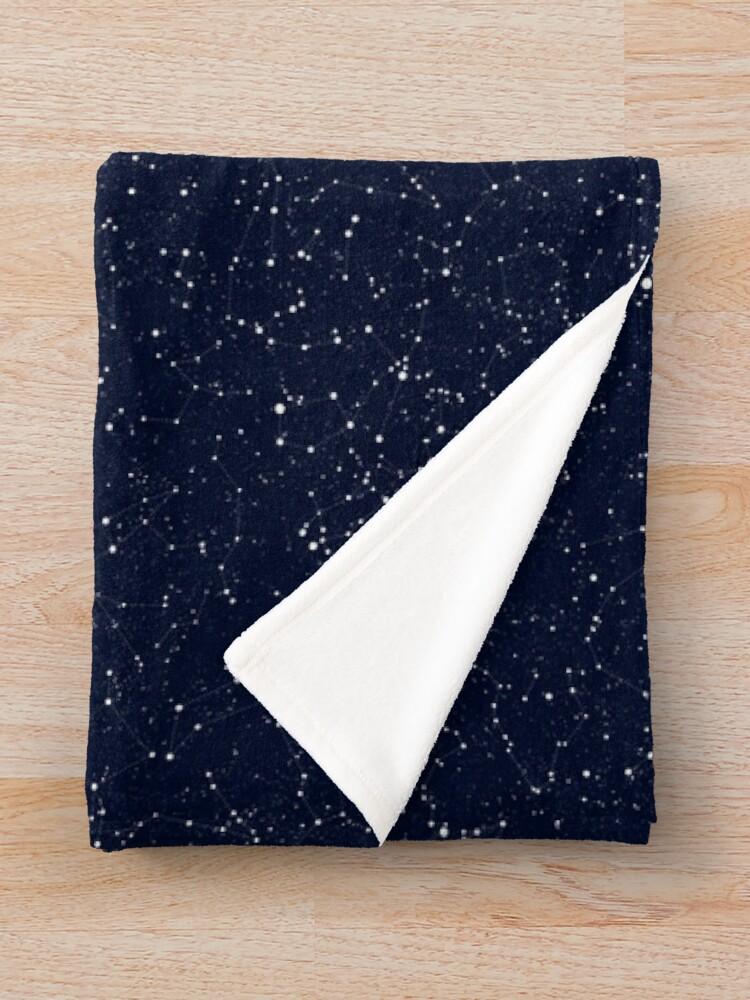 Alternate view of Starry Night Constellations Throw Blanket
