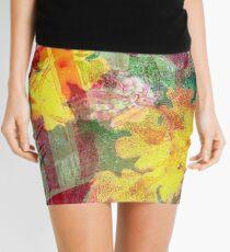 Floral ribbon print Mini Skirt