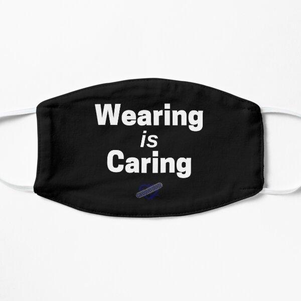 Wearing is Caring Black Mask Flat Mask