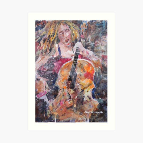 Painting Of Female Cellist - Music Art Gallery Art Print