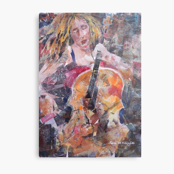Painting Of Female Cellist - Music Art Gallery Metal Print