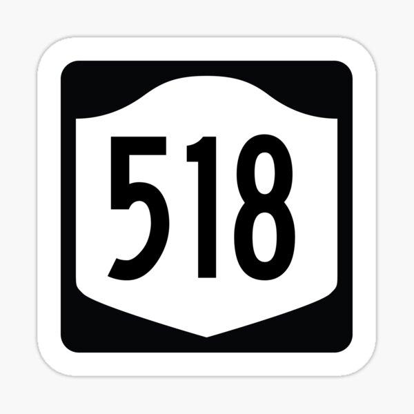 New York State Route 518 (Area Code 518) Sticker