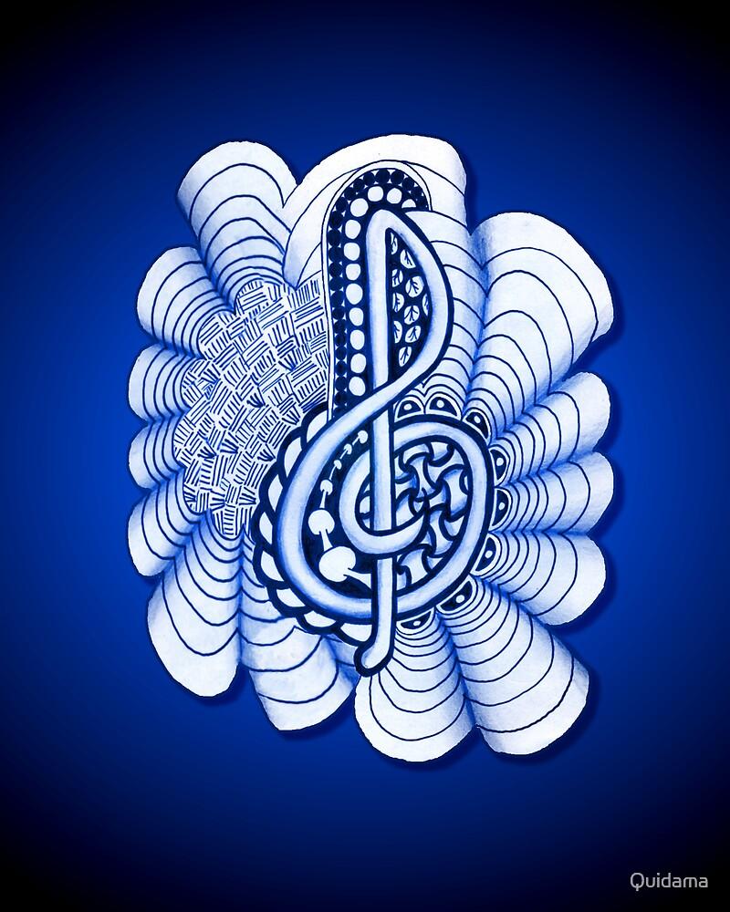 Musical Treble Clef  by Quidama
