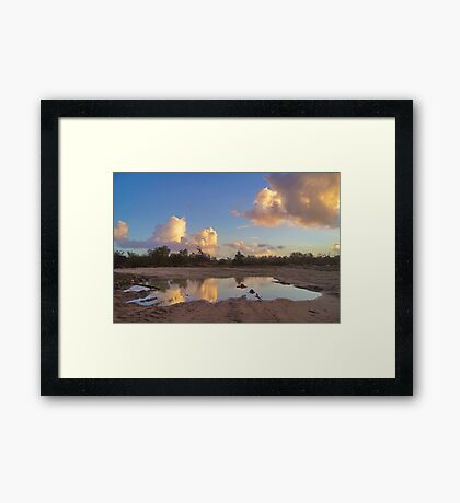 Puddle Of Water Framed Print