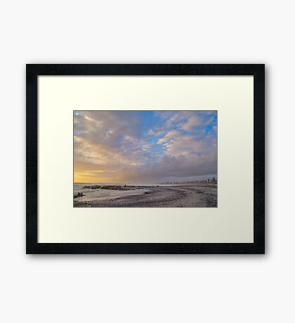 Lines Of Mussels Framed Print