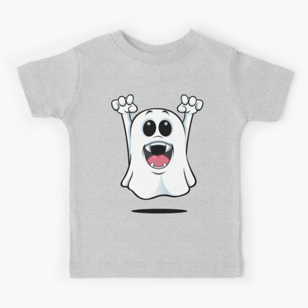 Cartoon Ghost - With Fangs! Kids T-Shirt