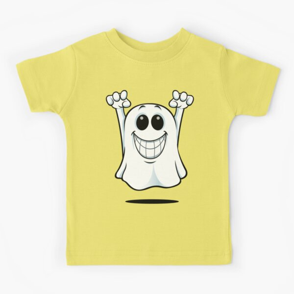 Cartoon Ghost - With A Big Smile. Kids T-Shirt