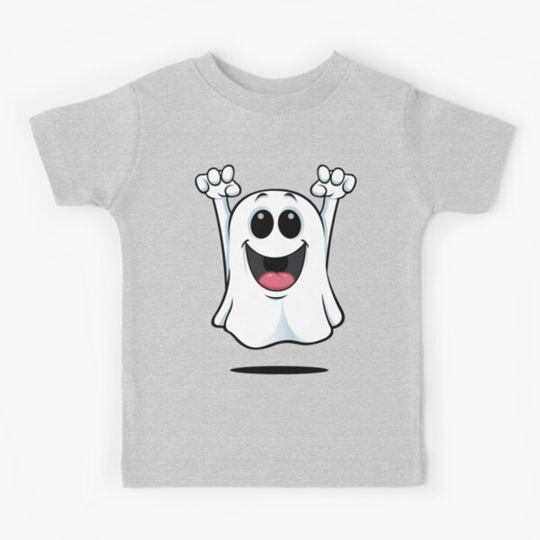 Cartoon Ghost - Happy Kids T-Shirt