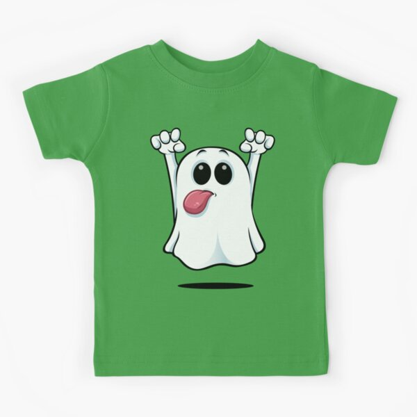 Cartoon Ghost - Sticking His Tongue Out. Kids T-Shirt