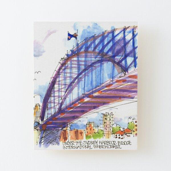 Under the Sydney Harbour Bridge Wood Mounted Print