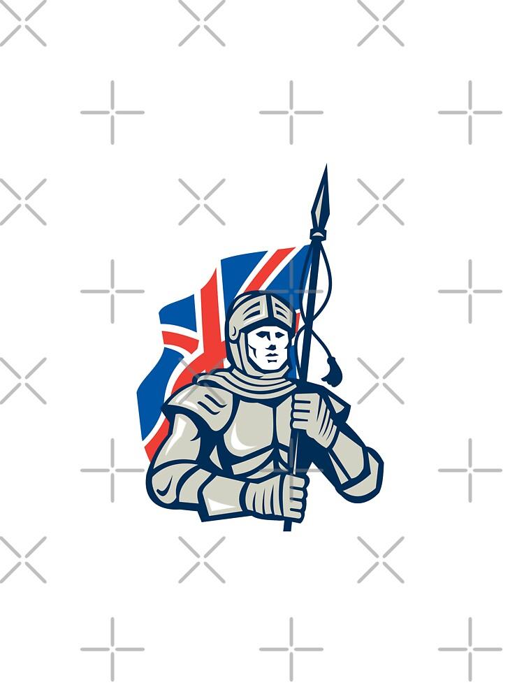 Knight British Flag Retro by patrimonio