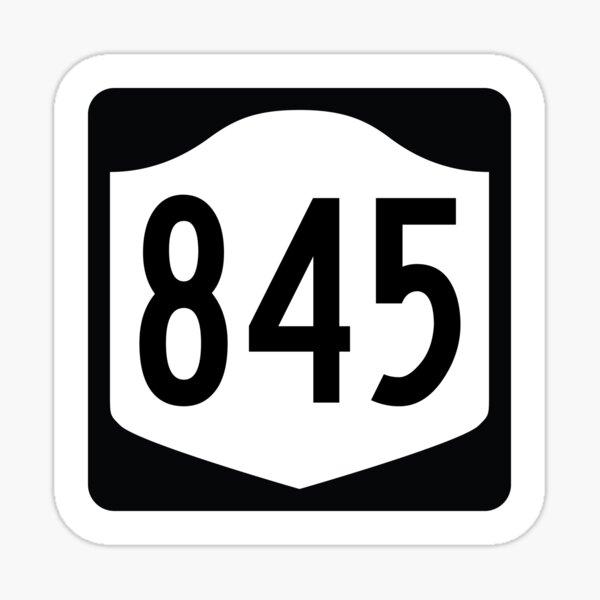 New York State Route 845 (Area Code 845) Sticker