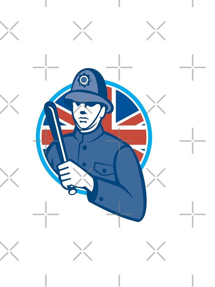 British Bobby Policeman Truncheon Flag by patrimonio