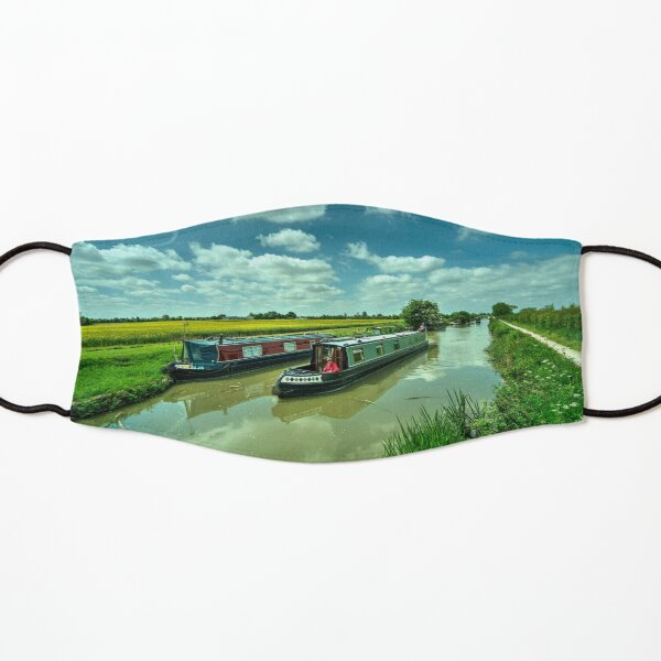 Narrowboats on the K and A  Kids Mask