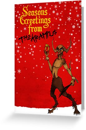 Seasons greetings from the krampus greeting cards by luke barclay seasons greetings from the krampus by luke barclay m4hsunfo