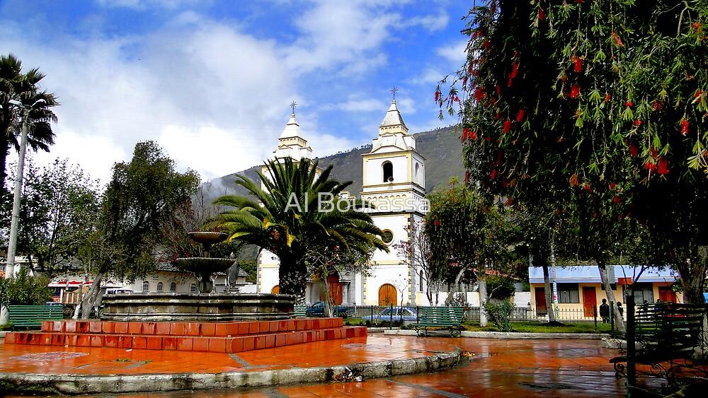 Town Square in Penipe, Ecuador by Al Bourassa
