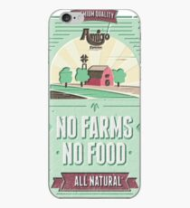 NO FARMS, NO FOOD iPhone-Hülle & Cover