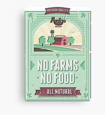 NO FARMS, NO FOOD Canvas Print