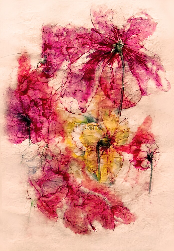 Flowers turned by TDere