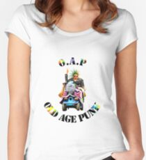 O.A.P - OLD AGE PUNK (Mobility Scooter) Women's Fitted Scoop T-Shirt