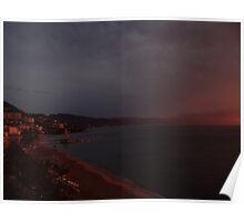 godly sunset I - puesta del sol divina Poster