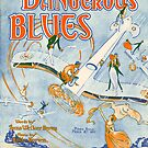 DANGEROUS BLUES (vintage illustration) by ART INSPIRED BY MUSIC