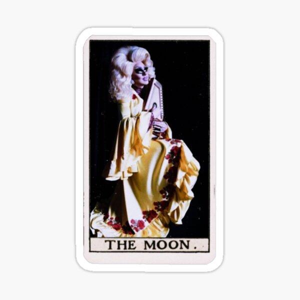 Trixie Mattel Moon Tarot Card Glossy Sticker