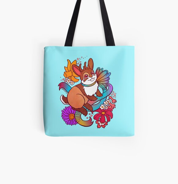 Springtime Jackalope All Over Print Tote Bag