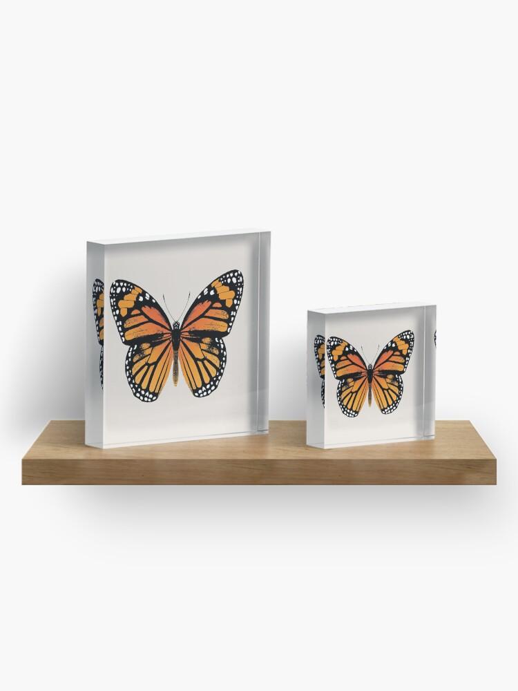 Alternate view of Monarch Butterfly | Vintage Butterflies |  Acrylic Block